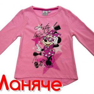 Детски дрехи за момичета. Блуза с мини маус. Розова блузка.