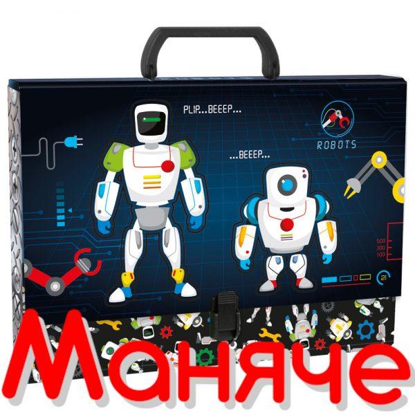 DERFORM Детско куфарче с дръжка Роботи